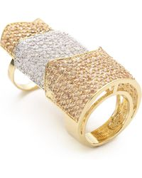 Eddie Borgo - Pave Two Tone Hinged Plate Ring - Lyst