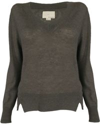 Band of Outsiders Boxy V Neck Sweater gray - Lyst