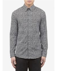 Jil Sander Hexagon Print Cotton Shirt - Lyst
