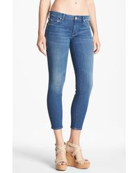 Mother The Looker Crop Skinny Jeans Peppermint Kisses - Lyst