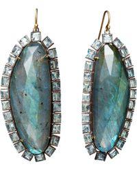 Nak Armstrong - Aquamarine Labradorite Slice Earrings - Lyst