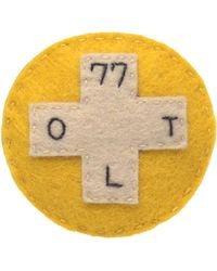 Olympia Le-Tan - Hand Embroidered Felt First Aid Brooch - Lyst