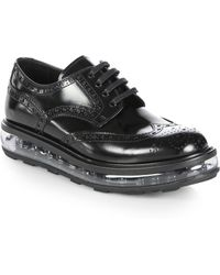 Prada Creeper Spazzolato Leather Laceup Oxfords - Lyst