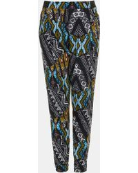 Topshop African Print Tapered Pants - Lyst