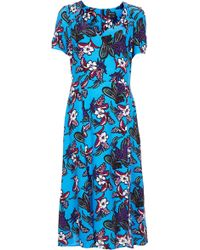 Topshop 40s Cocktail Midi Teadress - Lyst