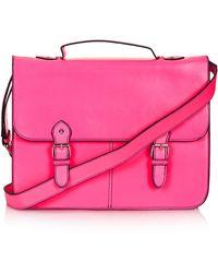 Topshop Large Edge Paint Satchel pink - Lyst