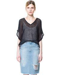 Zara Open Work Top - Lyst