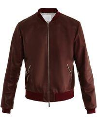 Richard Nicoll - Leather Bomber Jacket - Lyst
