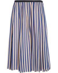 Forte Forte Striped Skirt - Lyst