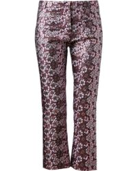 House of Holland Floral Brocade Trousers - Lyst