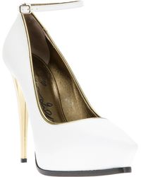 Lanvin Metallic Stiletto Pump - Lyst