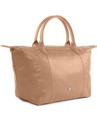 Longchamp - Le Pliage Cuir Small Handbag in Sand - Lyst
