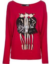 Love Moschino Printed Sweatshirt - Lyst