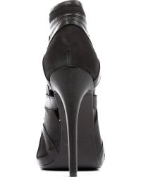 McQ by Alexander McQueen Cutout Leather Ankle Boots - Lyst