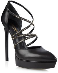 Saint Laurent - Janis Studded Dâorsay Pump - Lyst