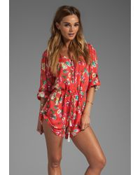 Spell & The Gypsy Collective Sundance Playsuit in Red - Lyst