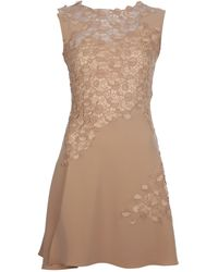 Versace Lace Dress beige - Lyst