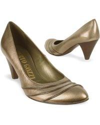 Alberto Gozzi - Gunmetal Rippled Front Genuine Leather Pump Shoes - Lyst