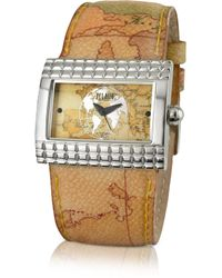 Alviero Martini 1A Classe - 1A Prima Classe - Ladies' Geo Rectangular Dial And Strap Watch - Lyst