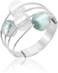 Antica Murrina - Lybra Sterling Silver and Murano Glass Ring - Lyst