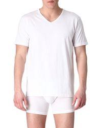 Emporio Armani Pack Of Three Plain Cotton Tshirts White - Lyst