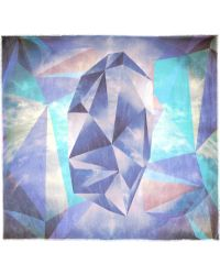 Athena Procopiou The Purple Sky Printed Modal and Cashmereblend Scarf - Lyst