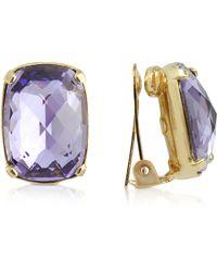 AZ Collection - Purple Clip-on Drop Earrings - Lyst