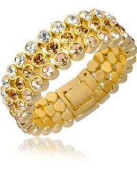 AZ Collection - Three-tone Crystal Bracelet - Lyst