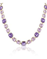 Az Collection Amethyst Crystal Necklace - Lyst