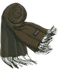 Basile - Striped Knit Fringed Long Scarf - Lyst