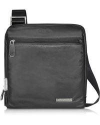 Bric's - Pininfarina - Black Leather Messenger Bag - Lyst