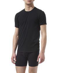 Calvin Klein Two Pack Crewneck Tshirts Black - Lyst