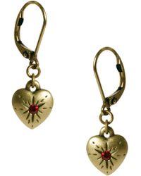 Cath Kidston Heart Drop Earrings Lyst