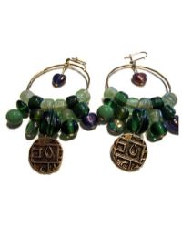 Chic Jewel Couture Bhutan Coin Earrings - Lyst