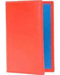 Comme Des Garçons Fluoro Leather Card Holder - Lyst