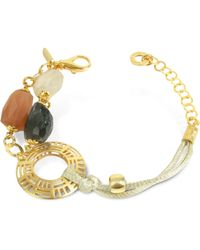Daco Milano - Gemstone And Sterling Silver Bracelet - Lyst