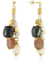 Daco Milano - Gemstone And Sterling Silver Drop Earrings - Lyst