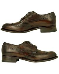 FORZIERI - Italian Handcrafted Brown Wingtip Oxford Shoes - Lyst
