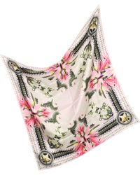 Givenchy   Star Chain Diamond Print Twill Silk Wrap   Lyst