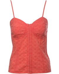 Jane Norman Embroidery Hook and Eye Cami Top orange - Lyst