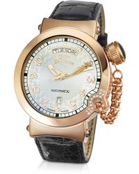 John Galliano - Lelu Mens Diamond Rose Gold Plated Automatic Watch - Lyst