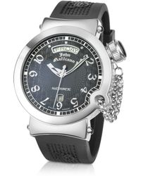 John Galliano - Lelu Mens Stainless Steel and Rubber Strap Automatic Watch - Lyst