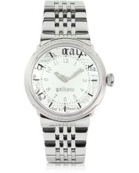 John Galliano - Women'S Crystal White Dial Watch - Lyst
