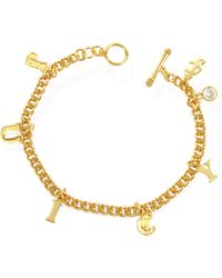 Juicy Couture - Juicy Ransom Note Bracelet - Lyst