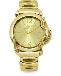 Just Cavalli Eden - Golden Dial Bracelet Watch - Lyst
