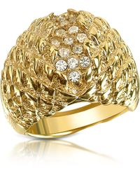 Just Cavalli | Just Live Gold Plated Crystal Ring | Lyst