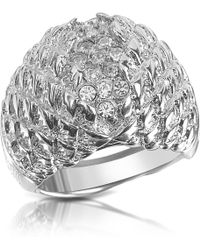 Just Cavalli - Just Live Silver Plated Crystal Ring - Lyst