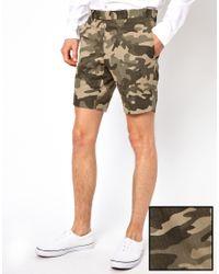 Lambretta - Suit Shorts in Camo - Lyst