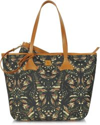McQ by Alexander McQueen Butterflyprint Canvas Shopper Tote - Lyst