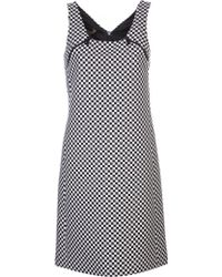 Michael Kors Check Jacquard Mod Shift Dress - Lyst